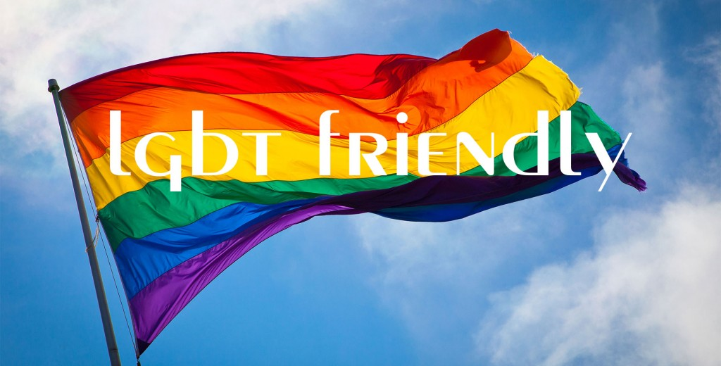 LGBT friendly flag Image