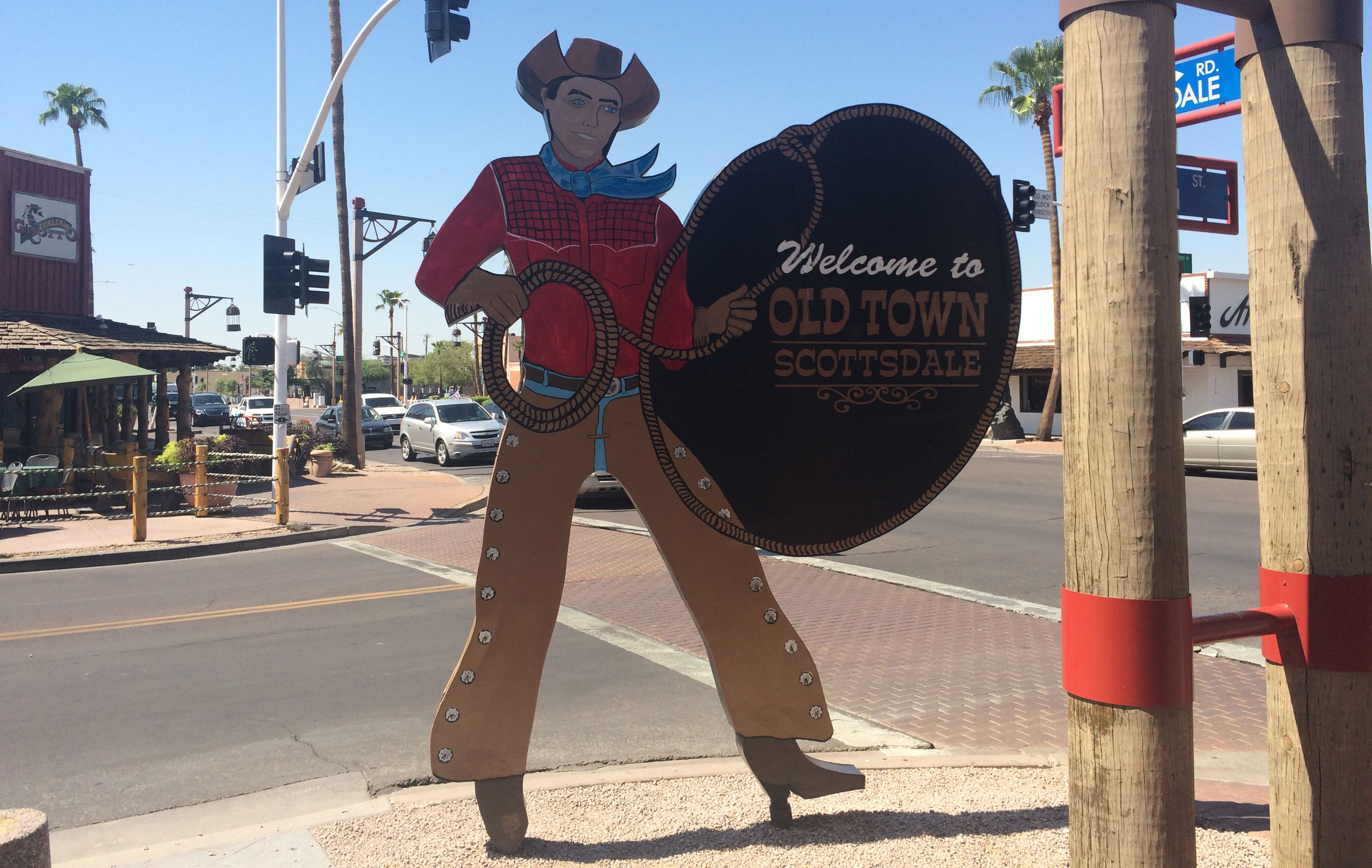 Old Town Scottsdale cowboy sign