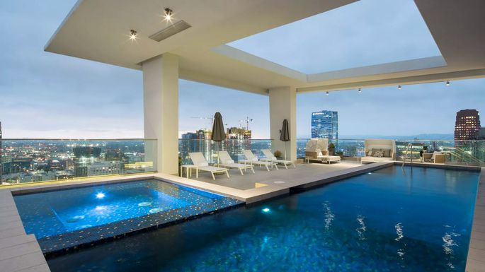 This 100k a month penthouse takes l a s rental market to for Penthouses for sale los angeles